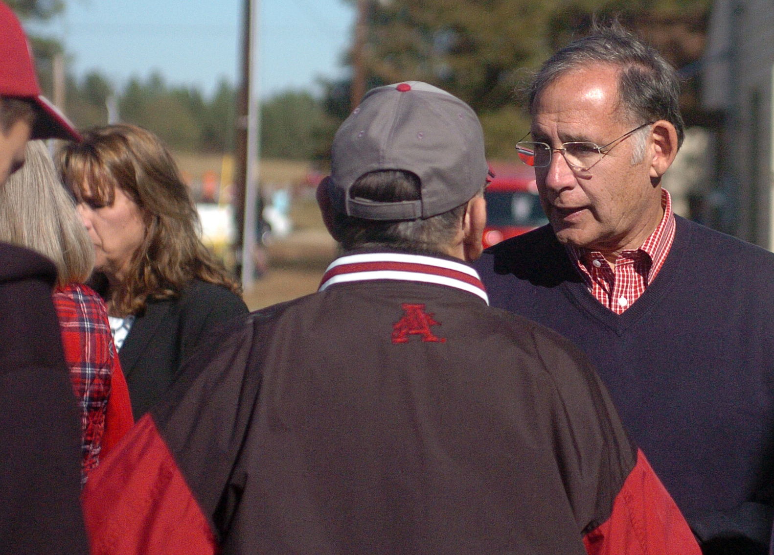 "U.S. Senator, John Boozman, right, speaks with a constituent at the fifth annual Veterans Day Parade at Chaffee Crossing was held on Saturday, November 12, 2016 at the Chaffee Crossing Historic District in Fort Smith. The parade's theme was ""Women In The Military,"" and was held to honor veterans from all branches of service and all U.S. wars. (Please include credit when using this photo) STEVE MARQUEZ/StMarq Photography"